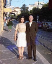 Иван Михайлов и Вида Боева-Попова през 70-те години на миналия век в Рим.